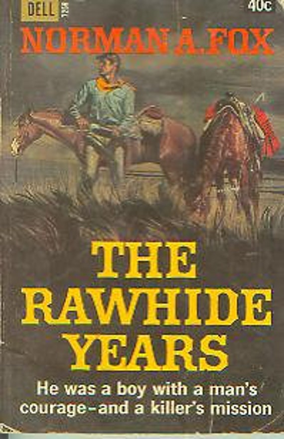 The Rawhide Years By Norman A Fox Vintage Pulp Fiction Etsy