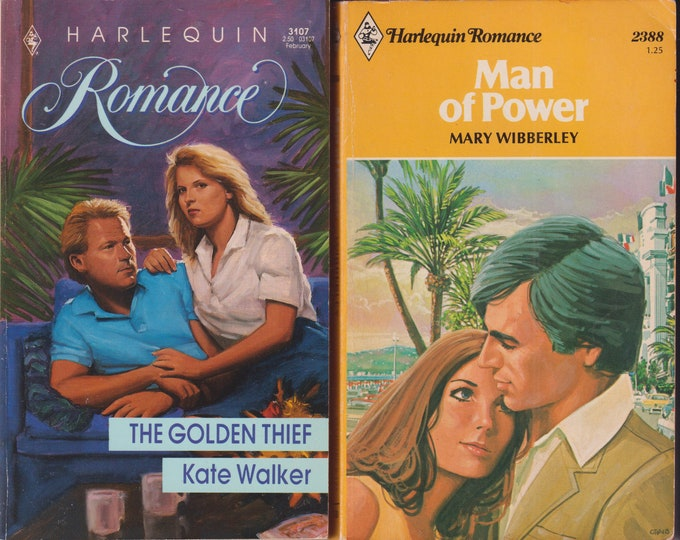 The Golden Thief and Man of Power  (2 Book Set) (Paperback: Romance) 1981 & 1991