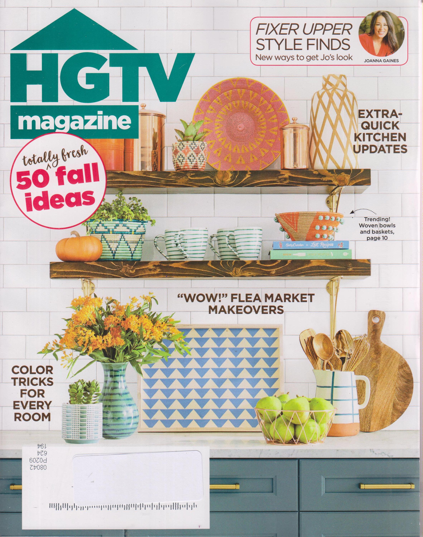 Fresh Fall Home Decorating Ideas Home Tour: HGTV October 2018 50 Totally Fresh Fall Ideas (Magazine