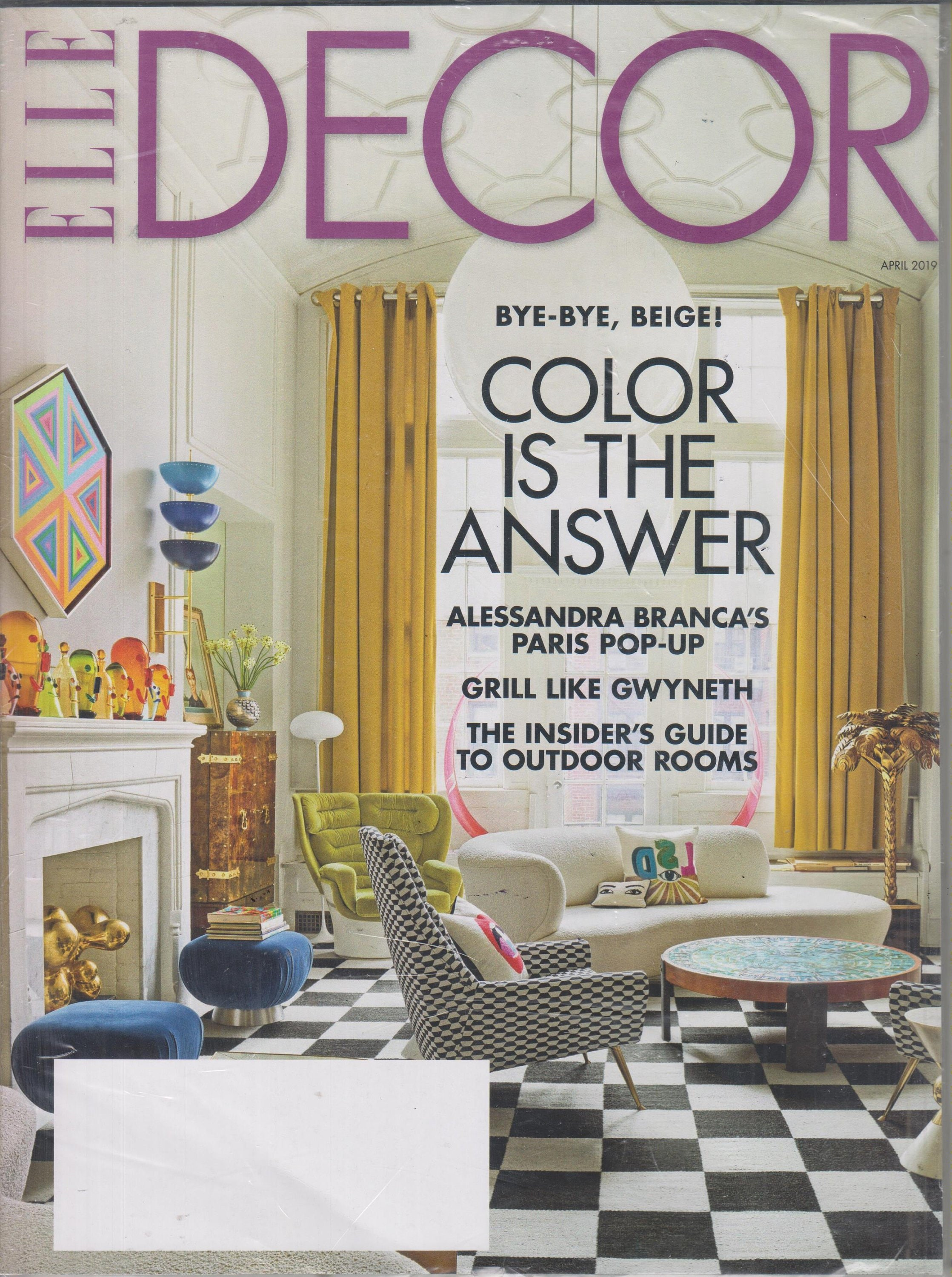 Elle Decor April 2019 Bye Bye Beige Color Is The Answer