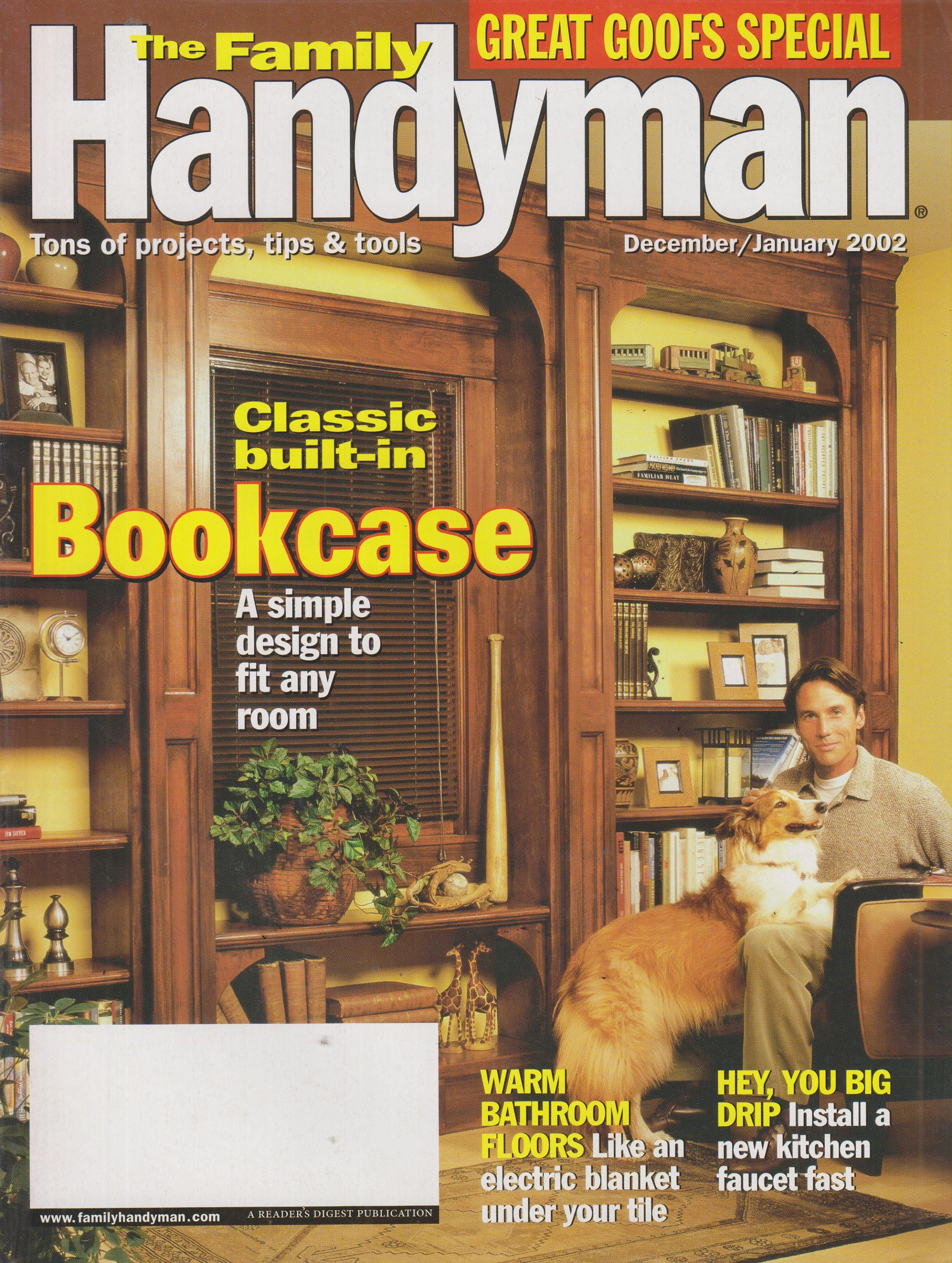 The Family Handyman December January 2002 Classic Built In