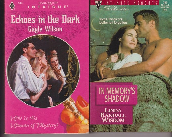 Echoes in the Dark & In Memory's Shadow (2 Book Set) (Paperback: Romance,  Suspense)  1990s