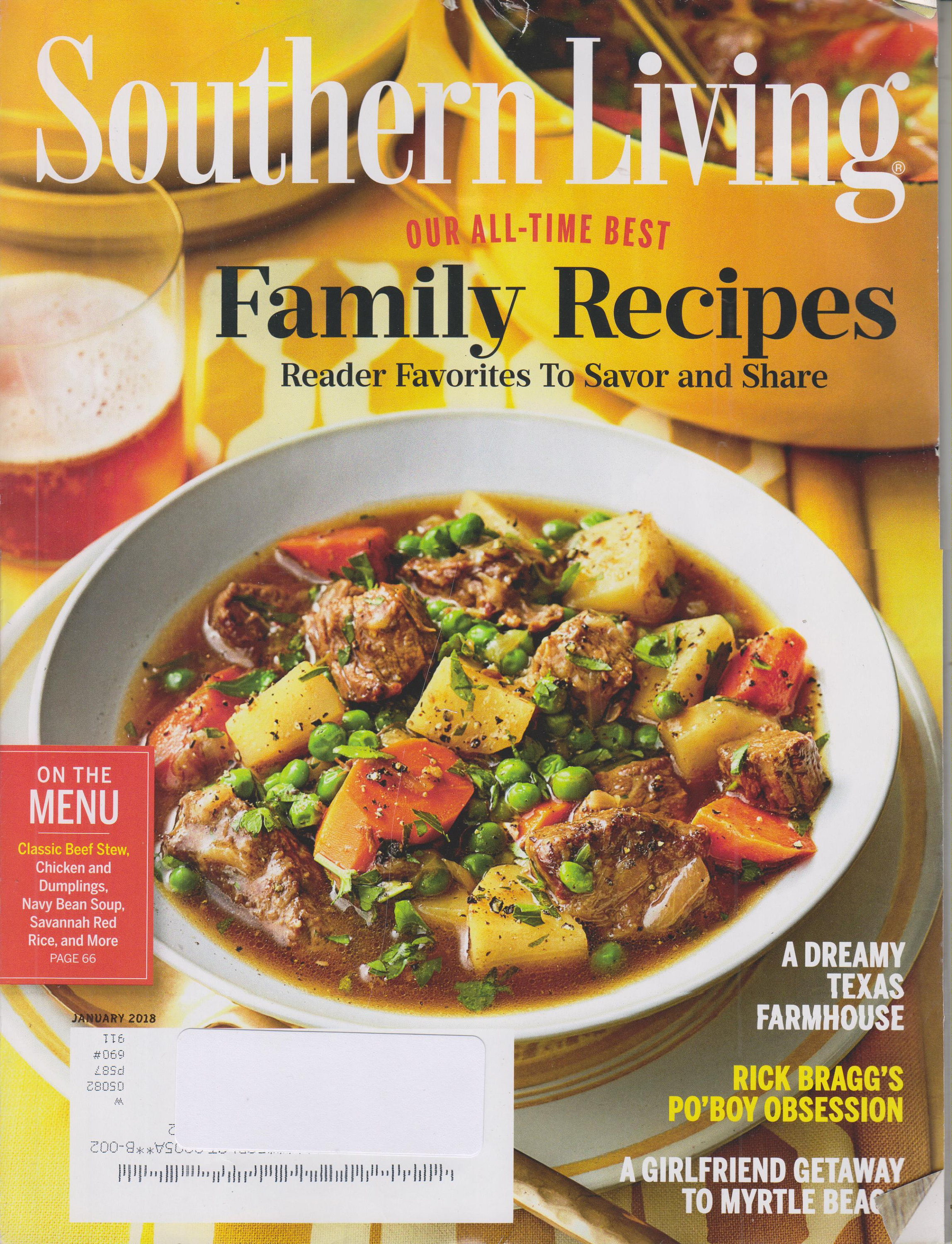Southern Living January 2018 Our All Time Best Family Recipes