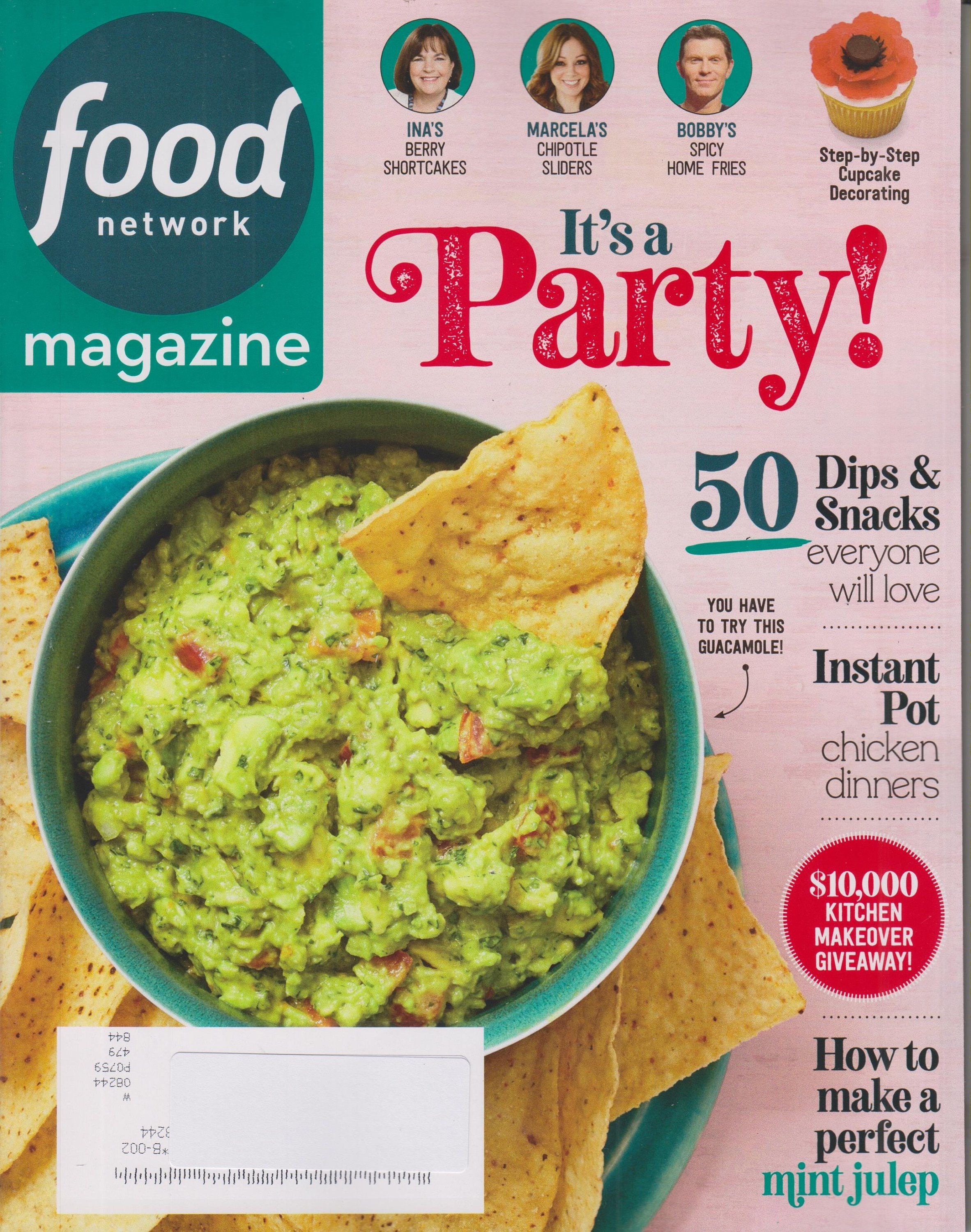Food Network May 2019 It's A Party! 50 Dips & Snacks Everyone Will