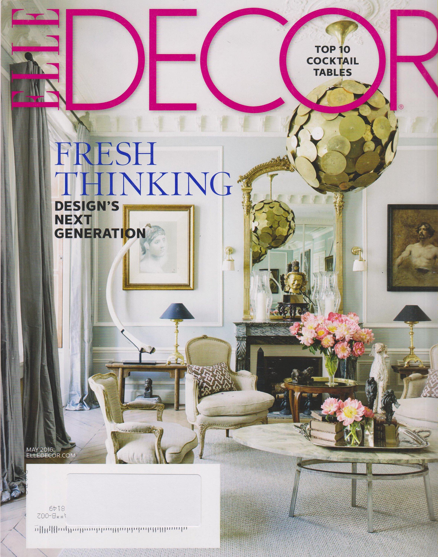 Elle Decor May 2016 Fresh Thinking Design S Next Generation Magazine Home Decor
