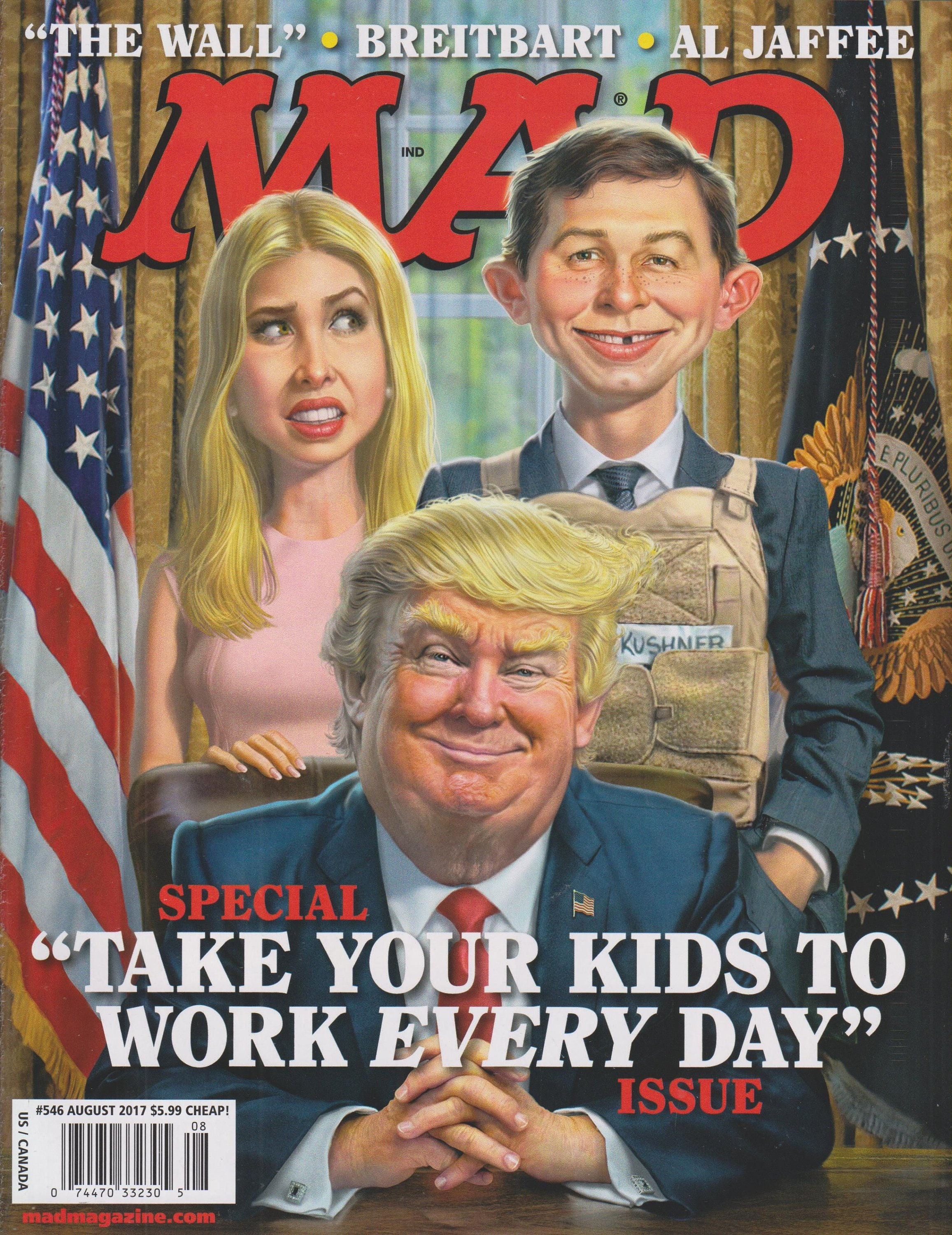 "Mad Magazine #546 August 2017 Trump - Special ""Take Your Children To Work  Every Day"" Issue(Magazine, Humor, Comic)"