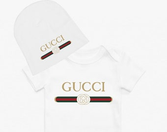 8a84e8b47e027d 2 piece GUCCI Cute Creeper w matching hat Gucci Inspired Baby Bodysuit Gucci  Baby gift GUCCI babyshower gift GUCCI