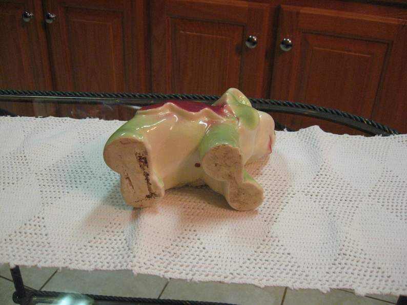 Vintage Elephant in multi colors from the 60/'s beautiful Pottery Planter measure 6 by 5 by 4 Free Shipping!