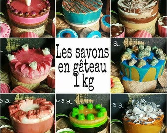 SOAP cakes to be cut or even (in big 50kg and more)
