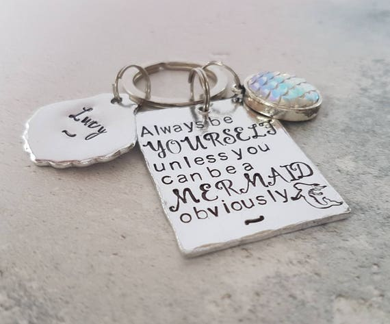 Mermaid keyring mermaid gift friend gift inspirational  33a6a177c0
