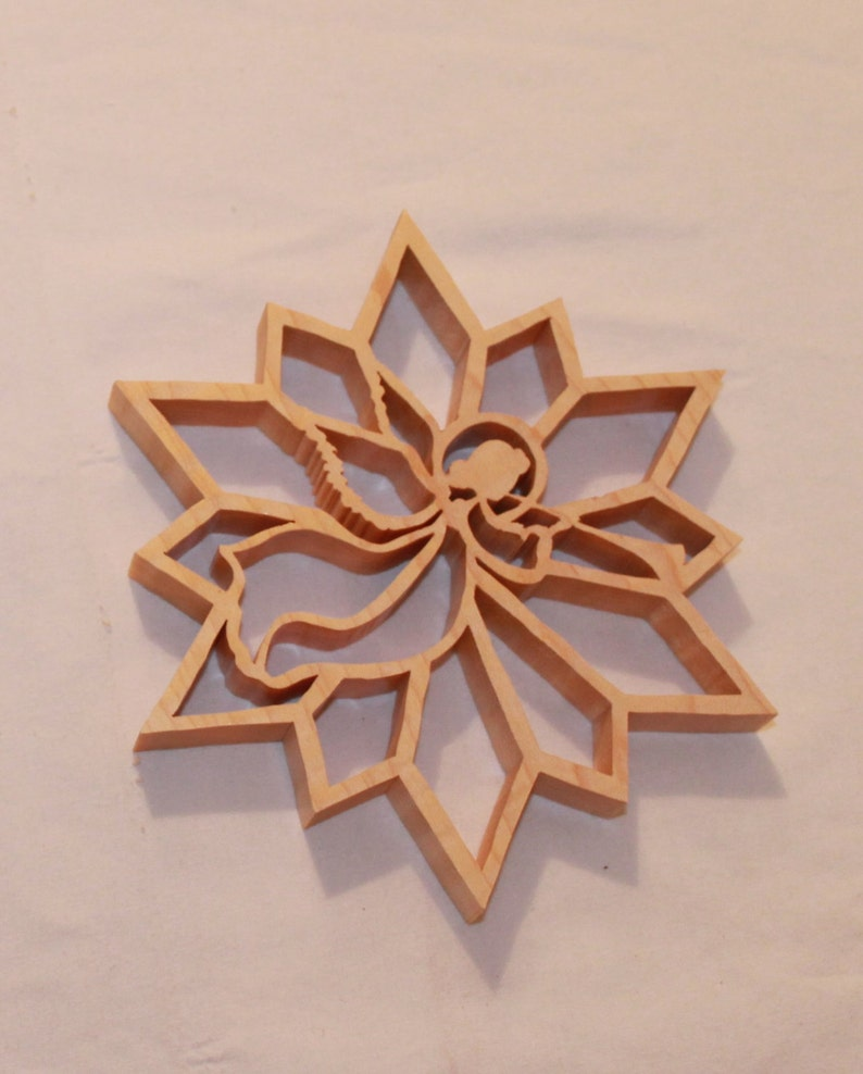 picture relating to Printable Scroll Saw Patterns for Beginners referred to as Scroll Observed Habit: Angel Snowflake