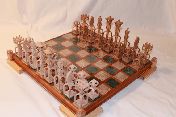 Scroll Saw Pattern Advanced Chess Set Etsy