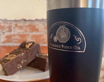 Florence Fudge Shop & Cafe 20 oz Travel Mug Free Personalization