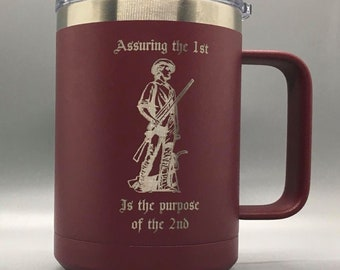 Personalize Free Assuring the 1st Is the Purpose of the 2nd 2A  15 oz Mug