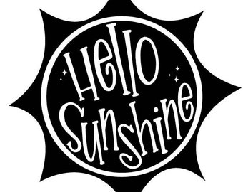Hello Sunshine SVG Design