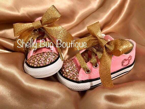 357c563023ac You Design Custom Swarovski Infant Converse Shoes Chuck