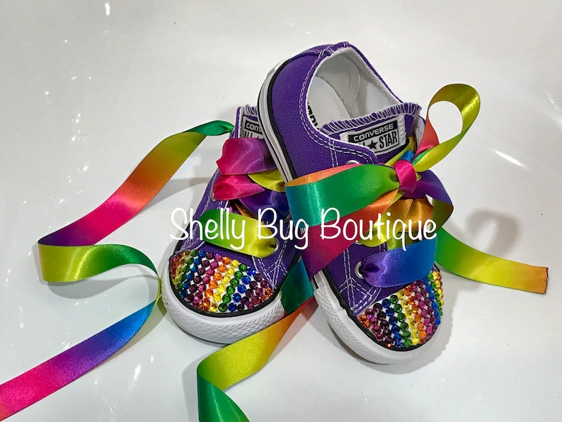 b733436ff4ee68 You Design Swarovski Toddler Converse Shoes Chuck Taylor All