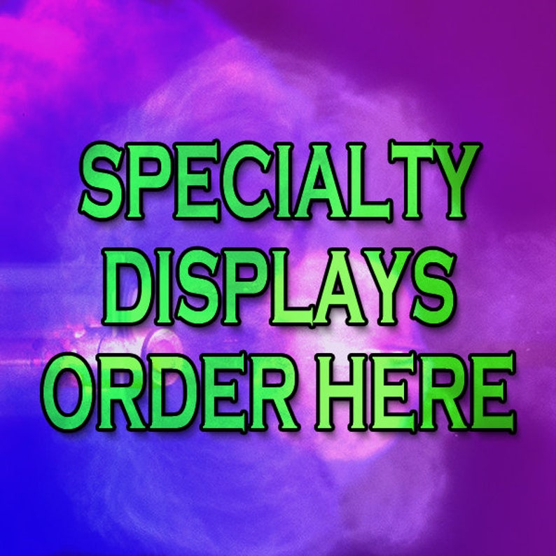 CUSTOM and SPECIALTY orders -- Multiple caliber displays -- Engraving --  Printing -- Engraved Plates -- Special Powder Style -- Mix-n-Match