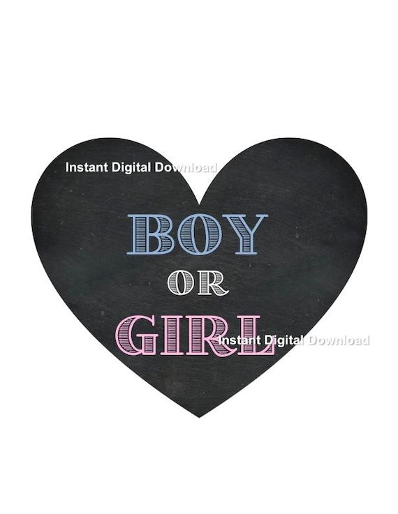 Boy or Girl Gender Reveal Instant Digital Download Gender Reveal Box Sign Gender Reveal Party Decoration Gender Reveal Idea