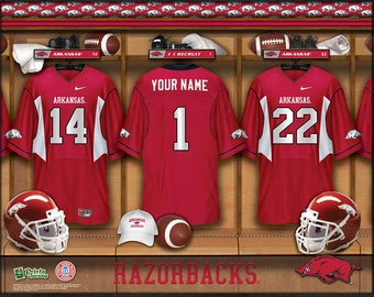 abc339a70 Arkansas Razorbacks NCAA Unframed Personalized Locker Room Collegiate  Sports Home Decor Free Shipping Officially Licensed Photo File Product