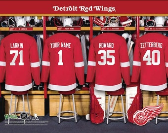 Detroit Red Wings NHL Unframed Personalized Locker Room Hockey Sports Home  Decor Free Shipping Officially Licensed Photo File Product d3a3429aff2