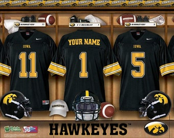 7cc414bd9 Iowa Hawkeyes NCAA Unframed Personalized Locker Room Collegiate Sports Home  Decor Free Shipping Officially Licensed Photo File Product