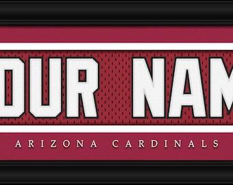 c195353de Arizona Cardinals-Free Shipping-Personalized Jersey Stitch FRAMED Print-NFL