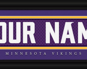 Minnesota Vikings NFL Framed Personalized Jersey Nameplate Sports Home  Decor 22x6 Inches Free Shipping 71e193362