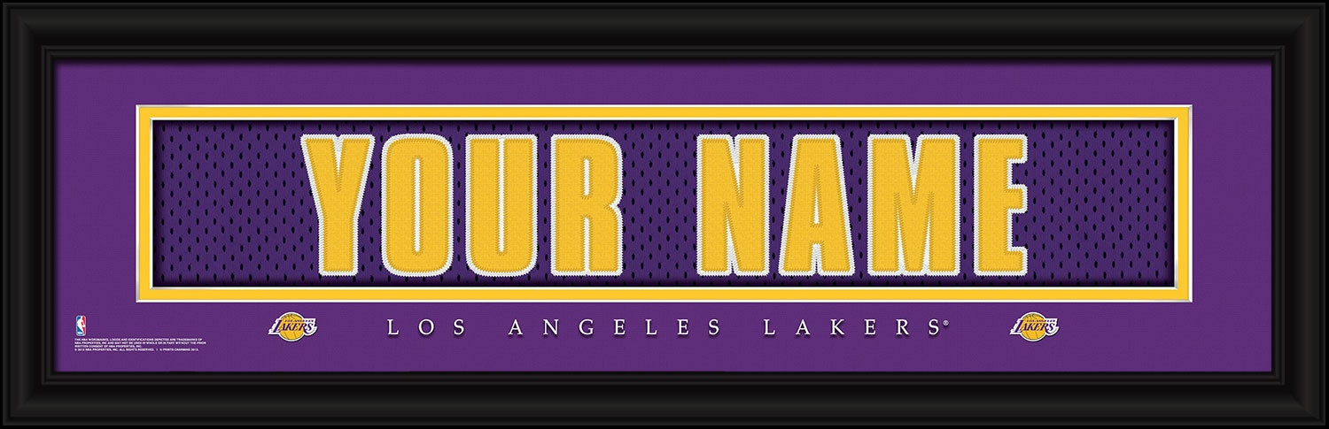 Los Angeles Lakers NBA Framed Personalized Jersey Nameplate  9b640515f