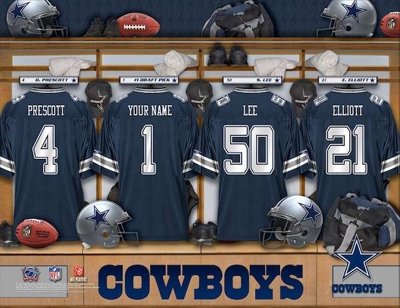 cf16ed6b7 Dallas Cowboys Personalized NFL Football Locker Room Jersey