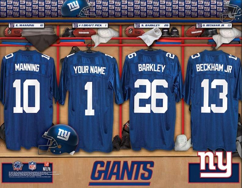 Cheap New York Giants Personalized NFL Football Locker Room Jersey   Etsy  hot sale