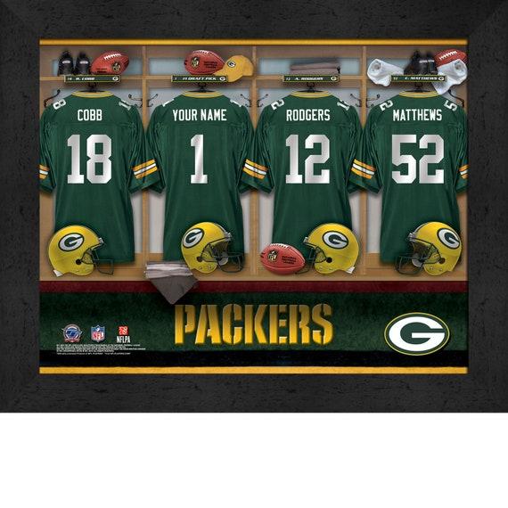 Green Bay Packers Personalized NFL Football Locker Room Jersey  ccbadd21b