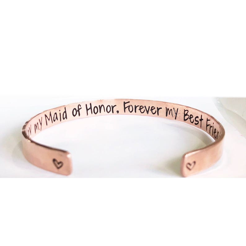 Maid Of Honor Gift  Maid Of Honor Bracelet MOH Jewelry image 0