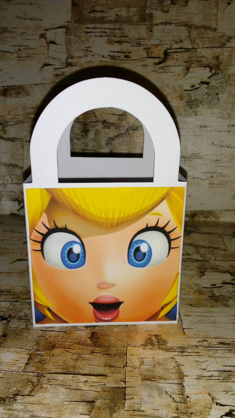 12 Princess Peach Super Mario Brothers Treat Boxes Favor Goodie Candy Bags Birthday Party