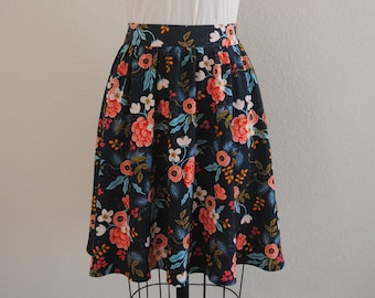 2bd128f9142 Pull on Gathered Skirt with Elastic Back Waist and Side Pockets