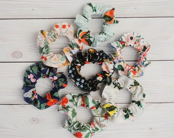 Rifle Paper Co Rayon Floral Scrunchie 3 Pack. You pick your colors! Choose from 7 different options. Made to Order