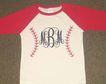 toddler baseball shirt, monogram raglan, baseball raglan, baseball shirt