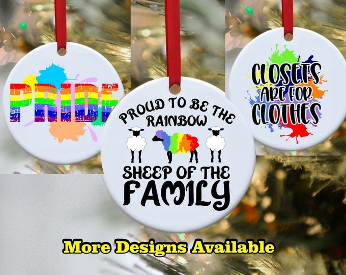 LGBT, Straight pride, Pride, Rainbow, Gay, Lesbain, ornament, Persoanlized ornament. Love is Love, Mr and Mr. Miss and Miss, Proud