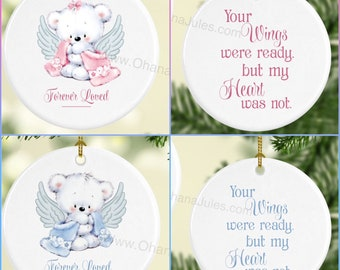 Remembrance ornament, Baby Loss, In memory,  Baby Girl, Baby Boy, Personalized Ornament, Infant, Baby, Miscarriage