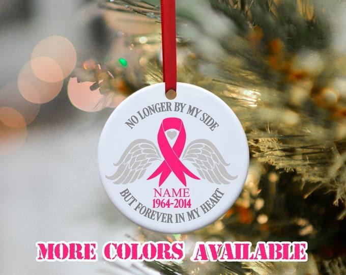 Cancer, Breast Cancer, Brain Cancer, Ovarian cancer, Childhood Cancer, cancer Ribbon, Memorial  Ornament, Remembrance Ornament