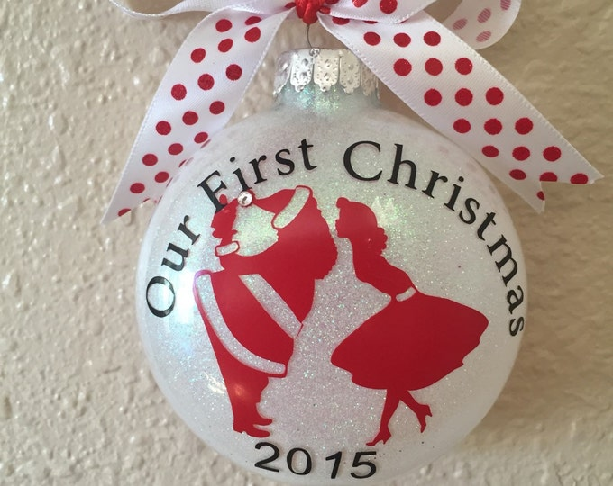 First Christmas, 1st Christms, Personalized Ornaments, Personalized Ornament, 2018