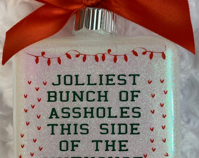 Glass ornament, Ornament, 1st Christmas, ugly sweater, Christmas