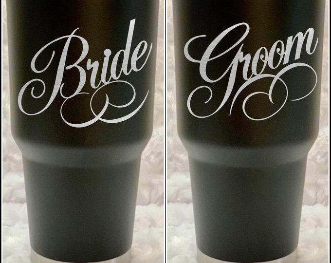 Bride, Groom, Best man, wedding, bachelorette, tumbler, flask, personalized