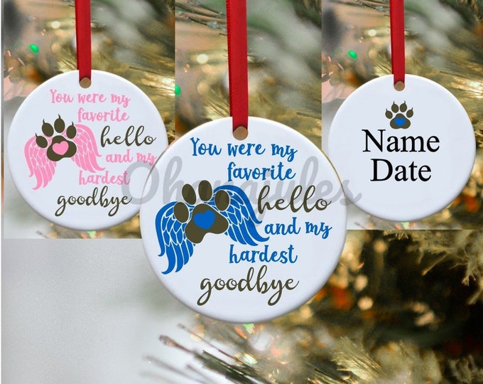 Pet loss, Dog Loss, Cat Loss, Pet memorial, Memorial Ornament, Dog loss ornament, Cat loss ornament, dog remembrance, cat remembrance
