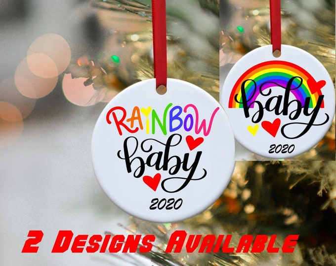 Rainbow Baby, Rainbow baby ornament, Raimbow baby annoncement, Baby annoncement, ornament, Christmas ornament, Babie's