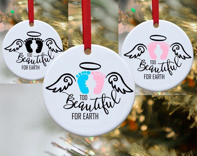 Infant loss, Baby loss, Remembrance Ornament, In Memory ornament, Personalized Christmas,  In memory Baby loss