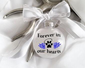 Pet Loss, Dog Loss, Cat Loss, Pet Loss Ornament, Pet Memorial, Dog Ornament, Cat Ornament, Memory, Paw Print, Personalized Ornament