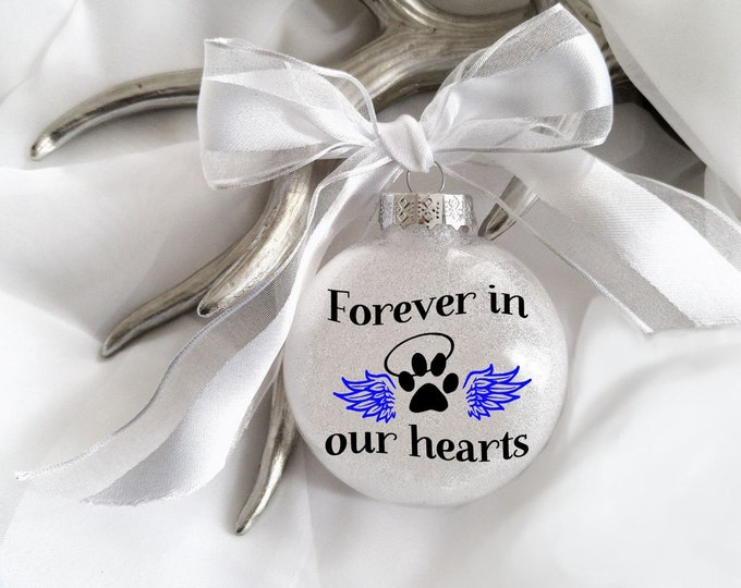 Pet loss, Dog loss, Cat loss, Pet loss ornament, pet memorial, Dog ornament, Cat ornament, Memory,Paw print, Personalized ornament