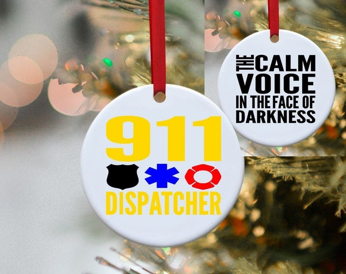 911, Dispatcher, Paramedic, First Responder, Police, Fireman, Firefighter , Christmas ornament, Ornament