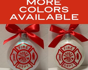 Fireman, Firefighter, First Responder, 1st Responder, Christmas Ornament, Glass Ornament
